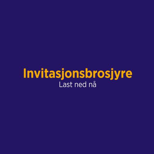 Bilde - Invitasjonsbrosjyre